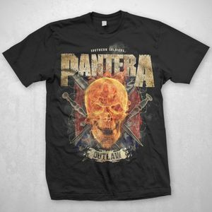 Pantera Outlaw (Mens /  Unisex Adult T-Shirt) Black, SS [Medium] Front Print Only