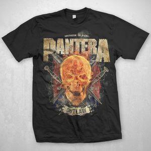 Pantera Outlaw (Mens /  Unisex Adult T-Shirt) Black, SS [Medium] Front Print Only