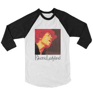 Jimi Hendrix Electric Ladyland White & Black Baseball T-Shirt (XL)