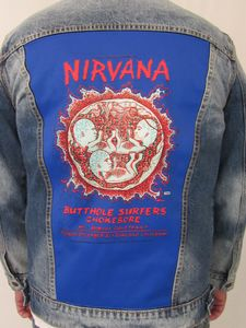 Nirvana Oakland Coliseum Embryo Blue Jean Jacket (Men's XXL)