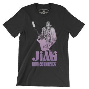 Jimi Hendrix 1968 Ltd. Edition Black Lightweight Vintage Style T-Shirt(Large)