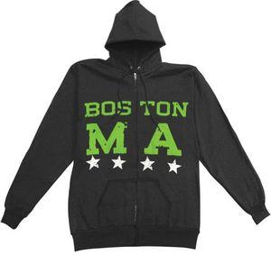 Boston Zip Hoodie Black - M