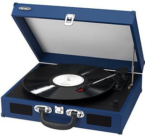 Jensen JTA-410 Turntable with Speakers (Blue)