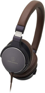 Audio Technica ATH-SR5NBW Hi-Res Portable On Ear Headphone Navy Brown