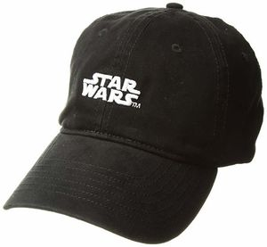Star Wars Logo Black Adjustable Baseball Cap