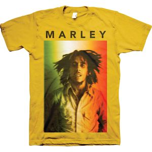 Bob Marley Original (Mens /  Unisex Adult T-shirt) Yellow SS [Large] Front Print Only