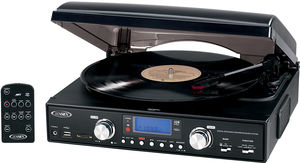 Jensen JTA-460 Turntable (USB, AM/ FM Receiver)