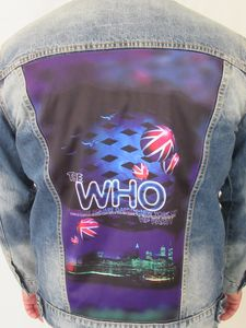 The Who Madison Square Garden Union Jack Blue Jean Jacket (Men's M)