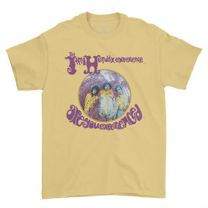 Jimi Hendrix Experience Are You Experienced Yellow Classic HeavyCotton Style T-Shirt (3XL)