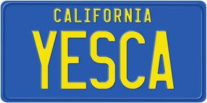 Cheech & Chong's Up In Smoke YESCA California License Plate