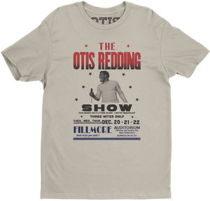 Otis Redding At The Fillmore Cream Lightweight Vintage Style Cotton T-Shirt (Large)
