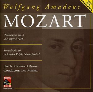Mozart: Divertimento No 3 /  Serenade No 10
