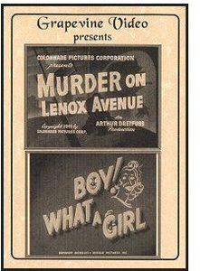 Murder on Lenox Avenue (1941) /  Boy! What a Girl!