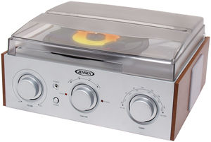 Jensen JTA-220 3-Speed Turntable (AM/ FM Receiver)
