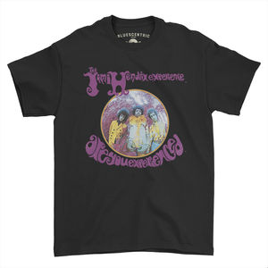 Jimi Hendrix Experience Are You Experienced Black Classic Heavy CottonStyle T-Shirt (XL)