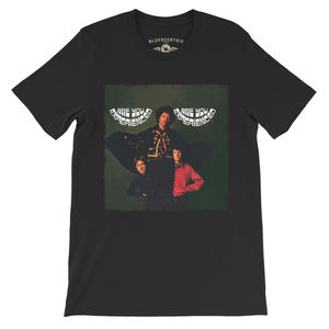 Jimi Hendrix Are You Experienced UK Album Cover Art Black LightweightVintage Style T-Shirt (XL)