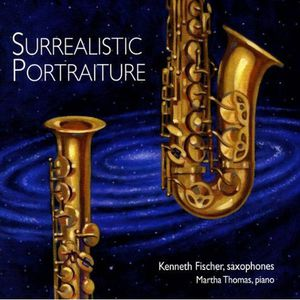 Surrealistic Portraiture Music Saxophones & Piano