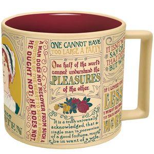 Jane Austen 12 Oz Coffee Mug