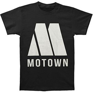 Motown Logo (Mens /  Unisex Adult T-shirt) Black, SS [Small] Front Print Only