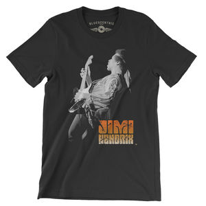 Jimi Hendrix Atlanta Pop Festival 1970 Black Lightweight Vintage StyleT-Shirt (Large)