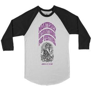 Monterey International Pop Festival Ltd. Edition White & BlackBaseball T-Shirt (XL)