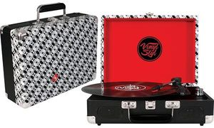 Vinyl Styl™ Groove Portable 3 Speed Turntable (Record Pattern)