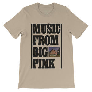 The Band Music From Big Pink Cream Lightweight Vintage Style T-Shirt(Large)
