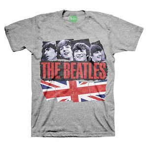 The Beatles Pieced Together (Mens /  Unisex Adult T-shirt) Grey, SS [Small] Front Print Only