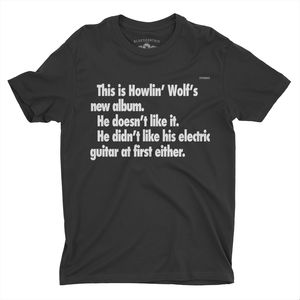 Howlin' Wolf This Is Howlin' Wolf's New Album. Black LightweightVintage Style T-Shirt (Medium)