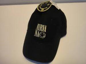 Nirvana Smiley Face & Logo Adjustable Baseball Cap