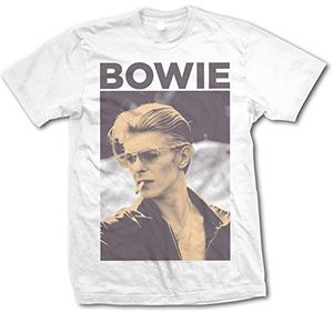 David Bowie Smoke Photo 3 (Mens /  Unisex Adult T-Shirt) White, US [Small], Front Print Only
