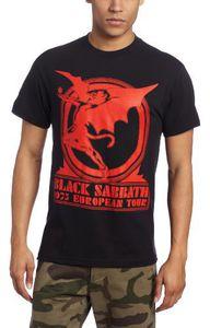 Black Sabbath 1975 European Tour (Mens /  Unisex Adult T-Shirt) Black, SS [Small] Front Print Only