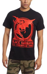 Black Sabbath 1975 European Tour (Mens /  Unisex Adult T-Shirt) Black, SS [Small] Front Print Only