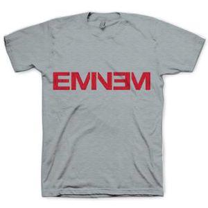 Eminem Logo (Mens /  Unisex Adult T-Shirt) Grey, SS [XXL] Front Print Only