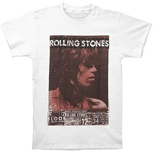The Rolling Stones Keith Vintage Live 1973 (Mens /  Unisex Adult T-shirt) White, SS [XXL] Front Print Only