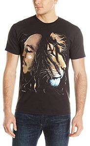 Bob Marley Profiles (Mens /  Unisex Adult T-shirt) Black SS [Small] Front Print Only