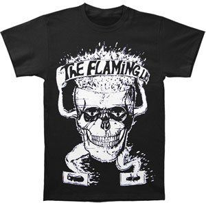 Flaming Skull Basic T-Shirt Black - XXL