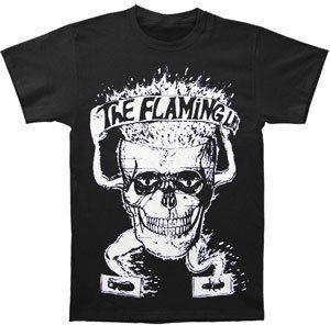 Flaming Skull Basic T-Shirt Black - XXL