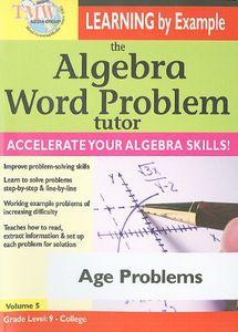 The Algebra Word Problem Tutor: Age Problems
