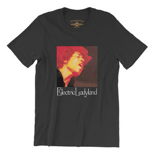 Jimi Hendrix Electric Ladyland Black Lightweight Vintage Style T-Shirt(XL)
