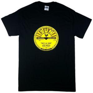 Elvis Presley That's All Right Black Unisex Adult Short Sleeve TeeShirt (XL)