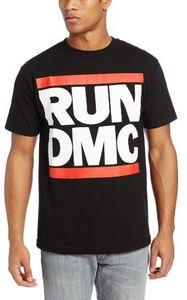 Run D.M.C. Logo (Mens /  Unisex Adult T-Shirt) Black, SS [XXL] Front Print Only