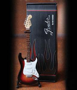 Fender Stratocaster Classic Sunburst Finish Miniature Guitar