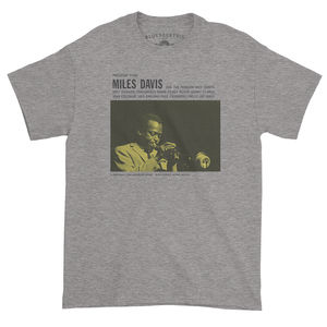Miles Davis Prestige 7150 Album Cover Art Heather Gray Heavy CottonStyle T-Shirt (XL)