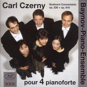 Carl Czerny Quatuors Concertants Op 230 & Op 816