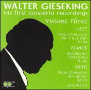Plays Liszt/ Franck/ Grieg