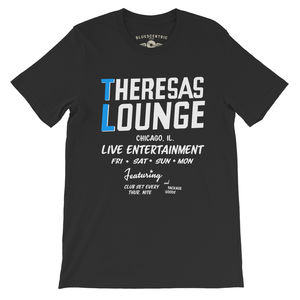 Theresa's Lounge Chicago, Il. Live Entertainment Black LightweightVintage Style T-Shirt (XXXL)