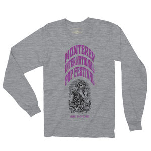 Monterey International Pop Festival Ltd. Edition Heather Grey LongSleeve T-Shirt (Large)
