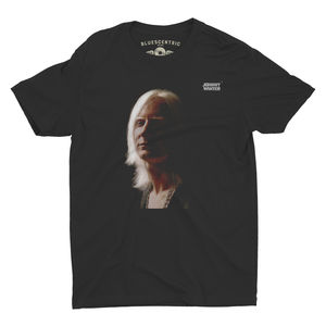 Johnny Winter 1969 Second Album Cover Artwork Black LightweightVintage Style T-Shirt (Medium)