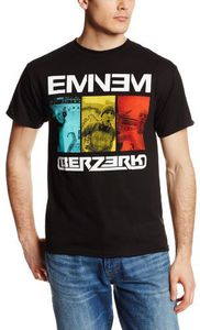 Eminem Berzerk (Mens /  Unisex Adult T-Shirt) Black, SS [Medium] Front Print Only